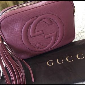 Authentic Gucci Soho Disco in Vintage Rose